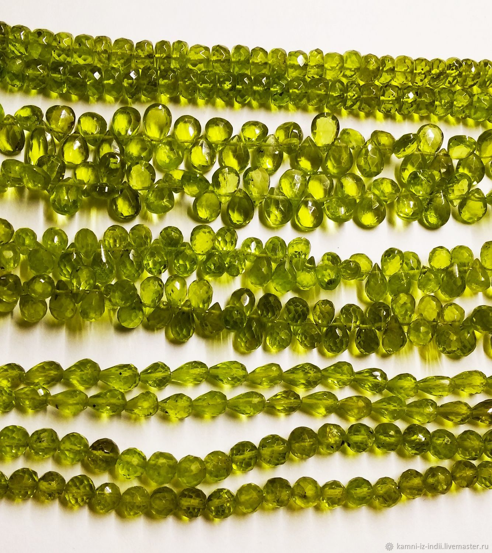 Хризолит (5 форм) натуральный, разные бусины с огранкой, Бусины, Москва,  Фото №1