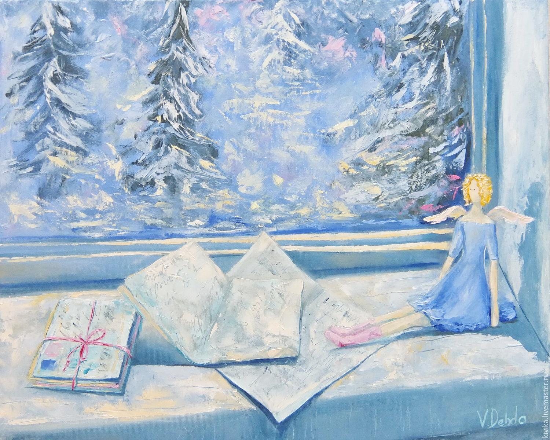 снег картина маслом за окном фотографии импортирую