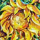 Картины цветов ручной работы. Ярмарка Мастеров - ручная работа. Купить Подсолнухи в лучах солнца.. Handmade. Оранжевый, солнечный подарок
