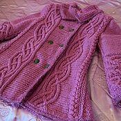 """Работы для детей, ручной работы. Ярмарка Мастеров - ручная работа Пальто вязаное """"Фиолетовая магия"""". Handmade."""