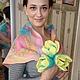 """Шарфы и шарфики ручной работы. Ярмарка Мастеров - ручная работа. Купить Бактус """"Весенний букет"""". Handmade. Разноцветный, бактус, шифон"""