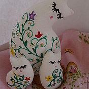 Куклы и игрушки ручной работы. Ярмарка Мастеров - ручная работа кошечка с котятами. Handmade.