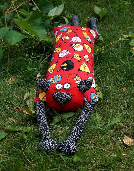 """Приколы ручной работы. Ярмарка Мастеров - ручная работа. Купить Игрушка-подушка """"Радужный кот"""" Angry Birds (злые птички). Handmade."""