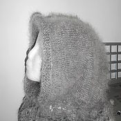 Аксессуары handmade. Livemaster - original item hood for women, the scarf made from goat down. Handmade.