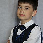 Жилеты ручной работы. Ярмарка Мастеров - ручная работа Жилет детский и галстук. Handmade.