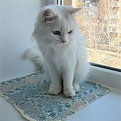 handmade. Livemaster - original item Wool mat bed on the windowsill for cats and cats. Felted... Handmade.