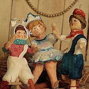 """Куклы и игрушки ручной работы. Ярмарка Мастеров - ручная работа Серия винтажных ватных игрушек """"Советские ребята"""". Handmade."""