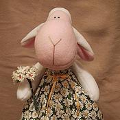 Куклы и игрушки ручной работы. Ярмарка Мастеров - ручная работа Овечка Машенька-ромашенька. Handmade.