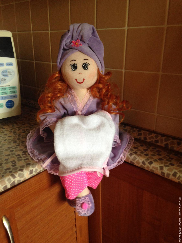Кукла держатель полотенца своими руками