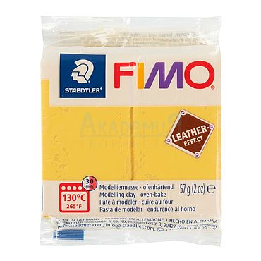 Материалы для творчества ручной работы. Ярмарка Мастеров - ручная работа Фимо FIMO Leather Effect полимерная глина 8010-109 желтый шафран. Handmade.