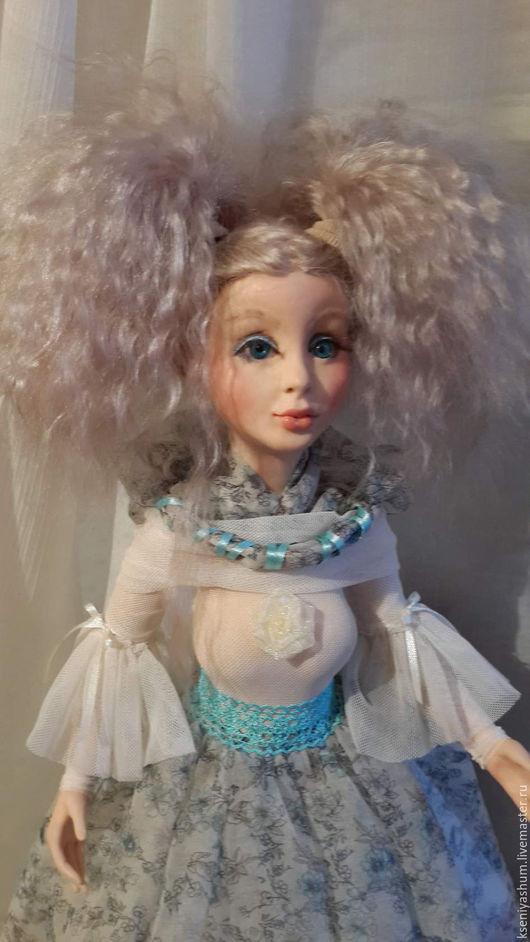 Коллекционные куклы ручной работы. Ярмарка Мастеров - ручная работа. Купить МИЛАНА. Handmade. Голубой, кукла ручной работы, блондинка