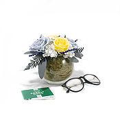 Цветы и флористика handmade. Livemaster - original item Bouquet of stabilized flowers-pilgrim. Handmade.