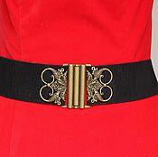 Belt handmade. Livemaster - original item Black belt Birds 2, Height 60mm, Black Velvet Wide. Handmade.