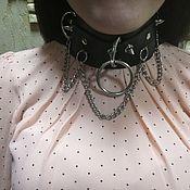 Аксессуары handmade. Livemaster - original item A collar of genuine leather. Handmade.