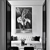 Картины и панно handmade. Livemaster - original item Ballerina-Large oil painting-Author`s painting-Original. Handmade.