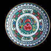 Китайское блюдце с ручной росписью