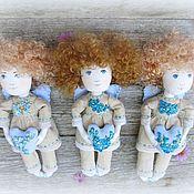 Куклы и игрушки ручной работы. Ярмарка Мастеров - ручная работа Кукла текстильная ангел именной (мальчик). Handmade.