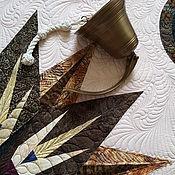"""Пледы ручной работы. Ярмарка Мастеров - ручная работа Лоскутное панно """" Морской компас """". Handmade."""