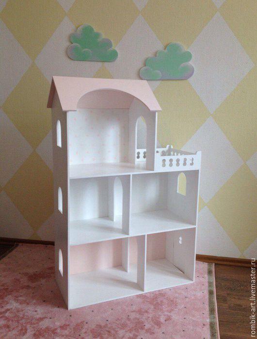 Кукольный дом ручной работы. Ярмарка Мастеров - ручная работа. Купить Кукольный домик 2. Handmade. Бледно-розовый
