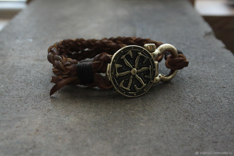 Leather bracelet Shield, Bead bracelet, Volgograd,  Фото №1