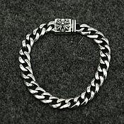 Украшения handmade. Livemaster - original item Silver bracelet with a cross unisex. Handmade.