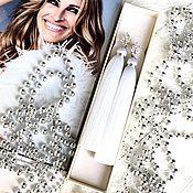 Украшения handmade. Livemaster - original item Earrings-tassels Snow queen white snow bright silk zircon rhodium. Handmade.