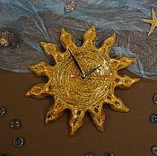 Для дома и интерьера ручной работы. Ярмарка Мастеров - ручная работа часы Солнышко. Handmade.