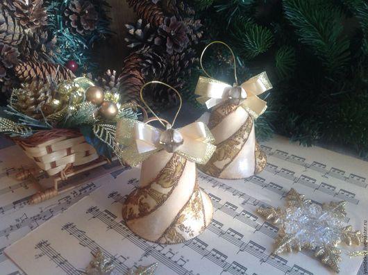Набор елочных игрушек.Елочные игрушки.Елочные украшения.Игрушки на елку.Новогодние игрушки.Подарок на Новый год.Игрушки елочные декупаж.Украшения елочные декупаж.Новогодние колокольчики