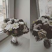 """Свадебный салон ручной работы. Ярмарка Мастеров - ручная работа Букет невесты зимний """"моя 25-я зима). Handmade."""