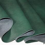 Материалы для творчества handmade. Livemaster - original item genuine leather of cattle. madras. Emerald. 0,9-1,1 mm.. Handmade.