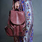 Сумки и аксессуары handmade. Livemaster - original item Backpack leather womens Purpur.. Handmade.