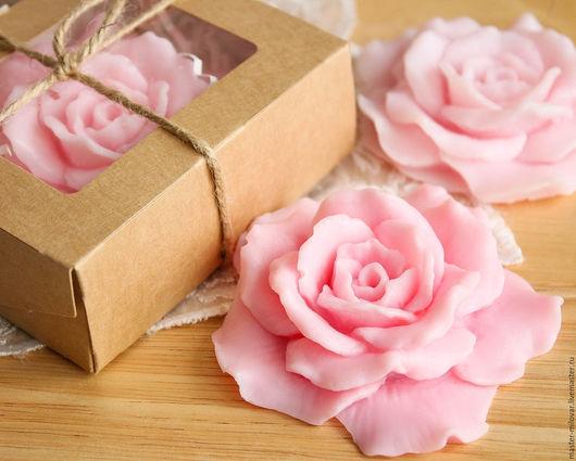 Мыло ручной работы. Ярмарка Мастеров - ручная работа. Купить мыло ручной работы РОЗОЧКА (розовая). Handmade. Бледно-розовый