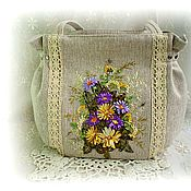 Сумки и аксессуары handmade. Livemaster - original item Bright summer handmade Bag with lace. Handmade.