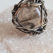 Украшения handmade. Livemaster - original item Ring light smoky quartz. Handmade.