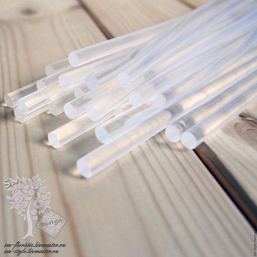 Материалы для флористики ручной работы. Ярмарка Мастеров - ручная работа. Купить Термоклей 7 мм х 300 мм прозрачный 1091. Handmade.