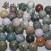 Материалы для творчества handmade. Livemaster - original item Ocean Jasper (chalcedony), 10 mm, smooth bead (Natur. stone). Handmade.