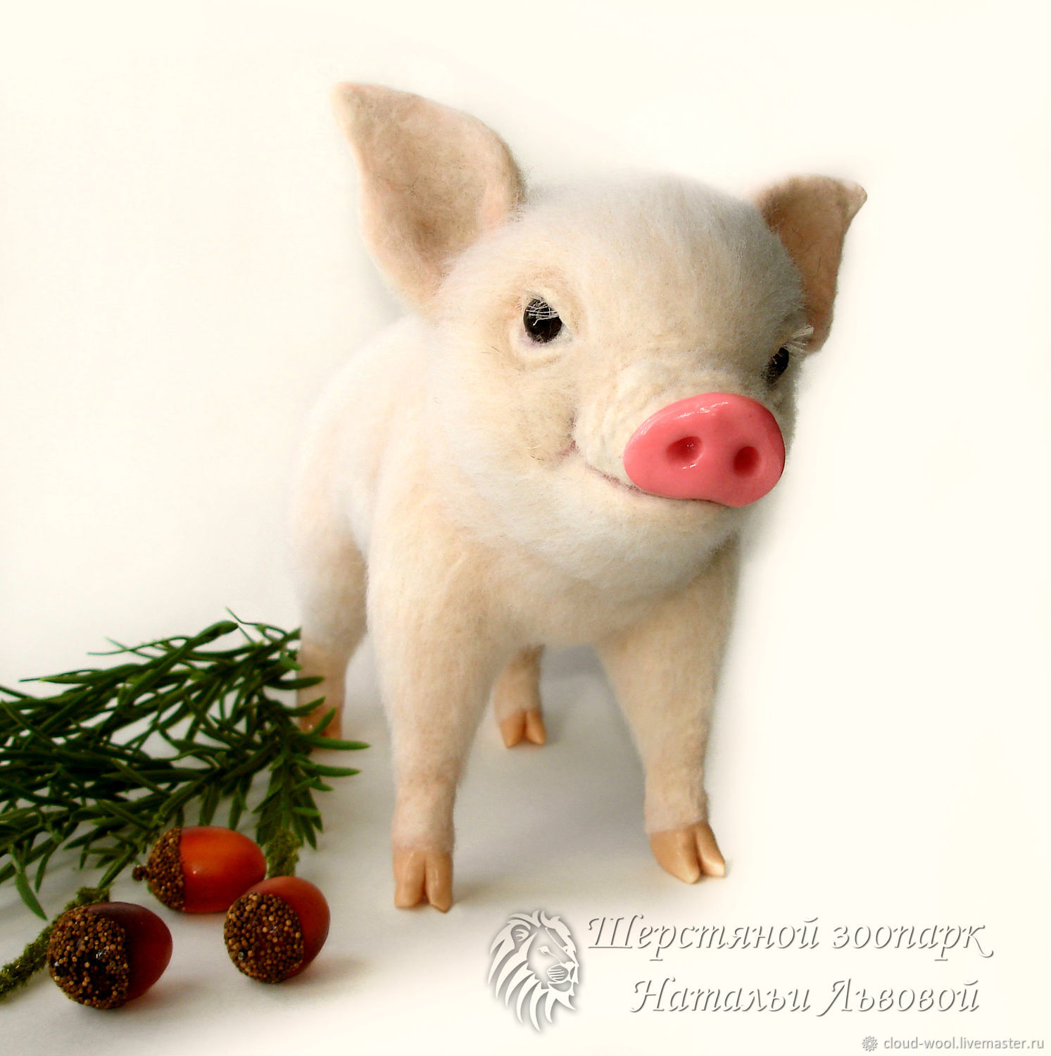 Chrona pig – the pig is felted from wool, felted toy (pig), Felted Toy, Sochi,  Фото №1