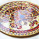 Round painting 'Golden Peacock' D 50 cm. Pictures. Art by Tanya Shest. My Livemaster. Фото №5