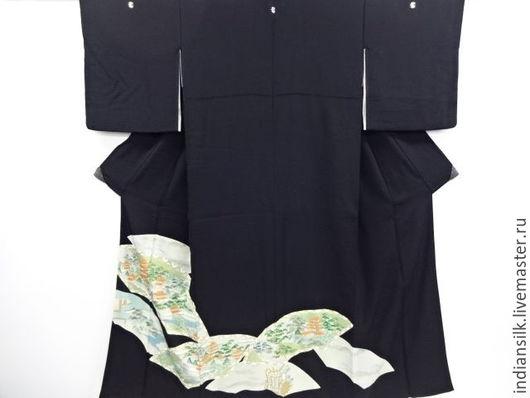 Одежда. Ярмарка Мастеров - ручная работа. Купить Винтажное кимоно из натурального шелка. Handmade. Комбинированный, япония, японский стиль