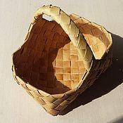 Для дома и интерьера handmade. Livemaster - original item A basket woven from birch bark. Basket wicker. Handmade.
