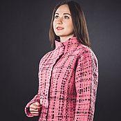 Одежда ручной работы. Ярмарка Мастеров - ручная работа Жакет из шерсти Плетение. Handmade.