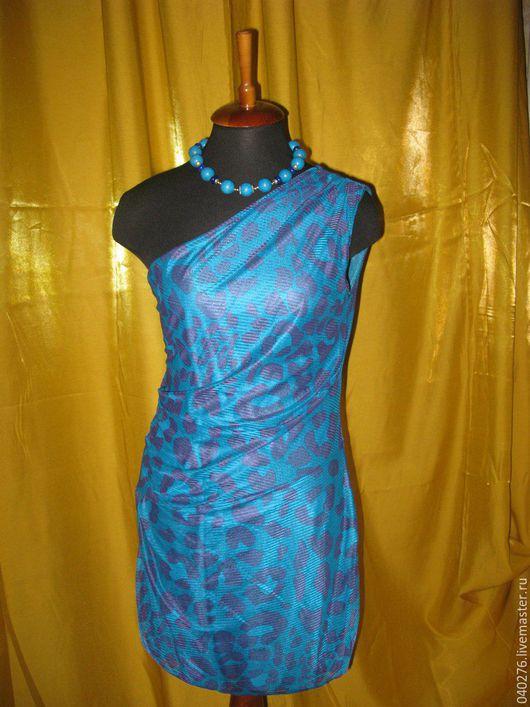 Стильное платье `Морской бриз`, Европа, фирма Orsay, 44 размер (М), сетка, на подкладке, новое.