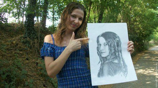 Люди, ручной работы. Ярмарка Мастеров - ручная работа. Купить Портрет, шарж. Handmade. Комбинированный, холст