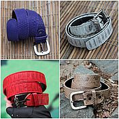 Аксессуары handmade. Livemaster - original item strap womens leather python beige red violet white classic. Handmade.