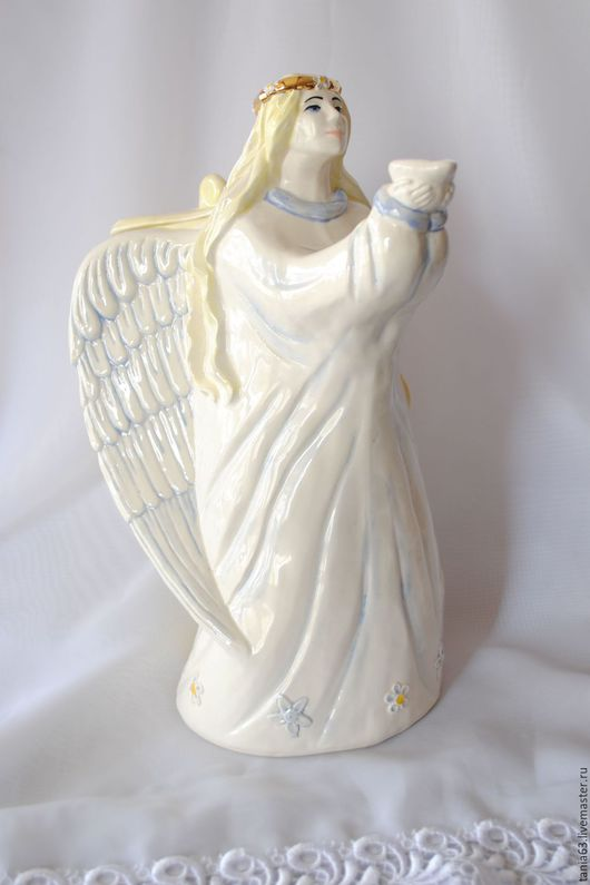 Decanters & Jugs handmade. Livemaster - handmade. Buy Jug 'The Angel'.Pitcher, the author's work, glaze