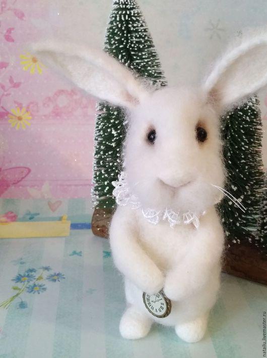 Игрушки животные, ручной работы. Ярмарка Мастеров - ручная работа. Купить Белый кролик РЕЗЕРВ. Handmade. Белый
