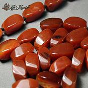 Материалы для творчества handmade. Livemaster - original item Carnelian, bead, twisted, 16h9 mm (natural stone). Handmade.