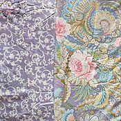 Материалы для творчества handmade. Livemaster - original item Fabric Satin Cotton China Peonies Monogram. Handmade.