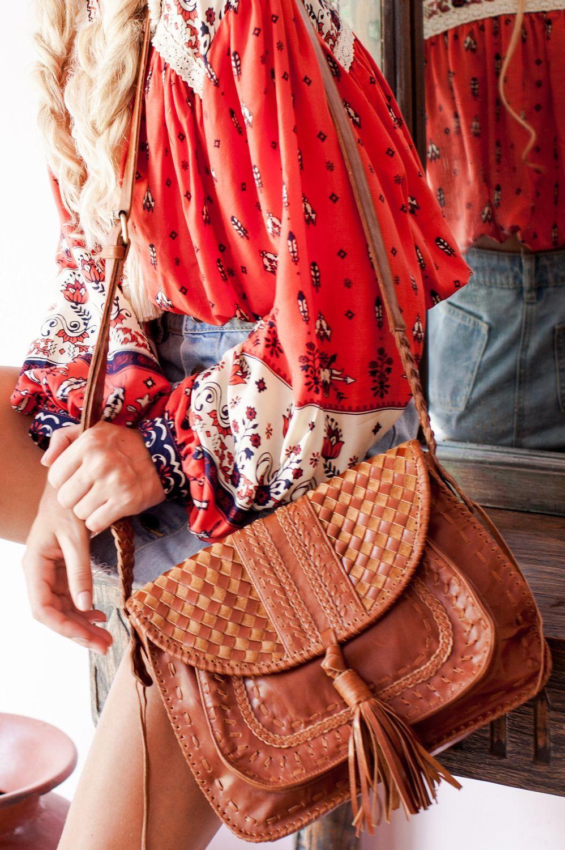 aa6c66cf5006 Кожаная сумка в стиле бохо шик. Женские сумки ручной работы. Ярмарка  Мастеров - ручная работа. Купить San Tropez.