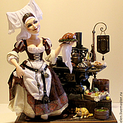 """Куклы и игрушки ручной работы. Ярмарка Мастеров - ручная работа """"Урсула - придворная кухарка"""". Handmade."""
